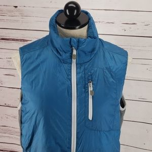 Lands End Quilted Teal Vest Jacket